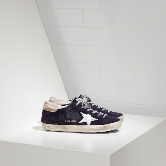 Women's Golden Goose sneakers superstar leather purple suede