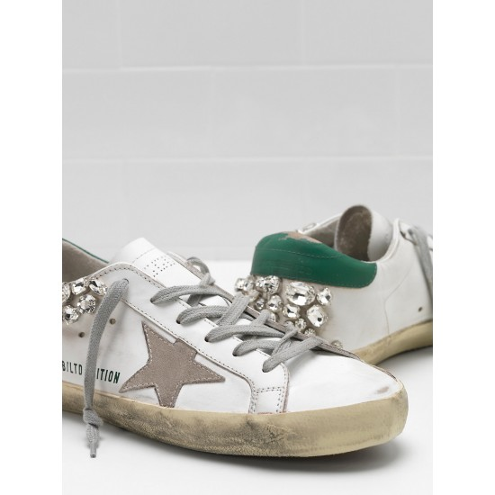 Women's Golden Goose sneakers superstar limited edition in white diamond