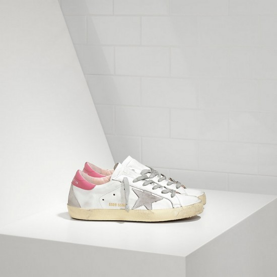 Women's Golden Goose superstar ggdb rose red grey star logo