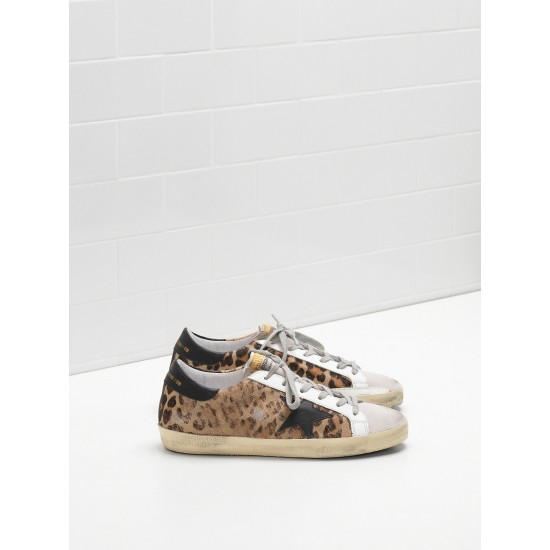 Women's Golden Goose superstar sneakers classic in leopard print