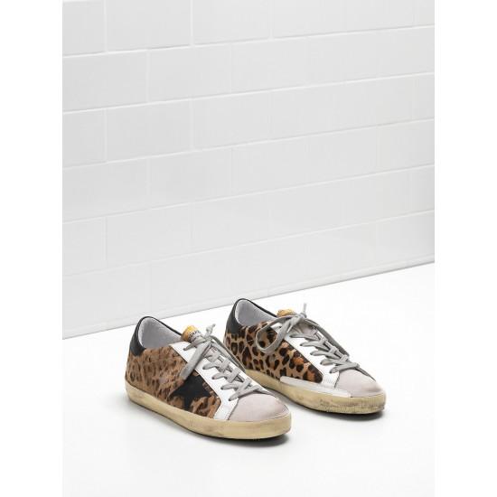 Women's Golden Goose superstar sneakers classic in leopard print