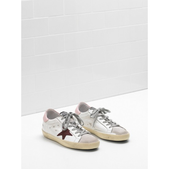 Women's Golden Goose superstar sneakers leather star in suede leather