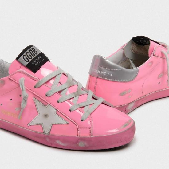 Women's Golden Goose superstar sneakers light pink with silver
