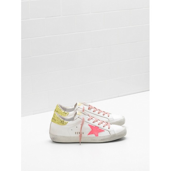 Women's Golden Goose superstar upper suede star rose red star logo