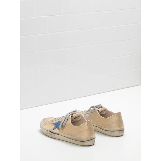 Men's/Women's Golden Goose v star 2 sneaker in laminated cotton canvas star