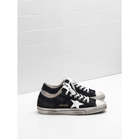 Men's/Women's Golden Goose v star 2 sneakers calf suede upper star in leather