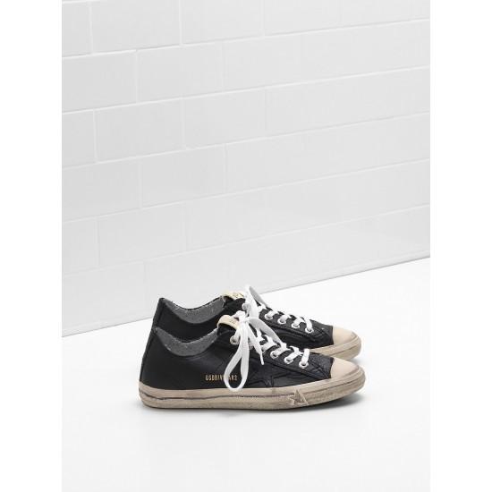 Men's/Women's Golden Goose v star 2 sneakers in black star logo
