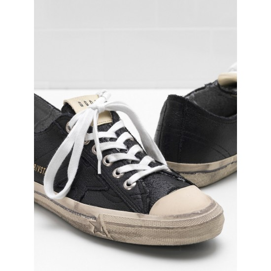 Men's/Women's Golden Goose v star 2 sneakers in black star logo